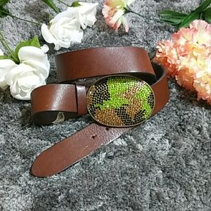 Gap Belt With Studded Belt Buckle